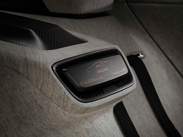 Design Peugeot Onyx - Zoom sur les détails du design intérieur