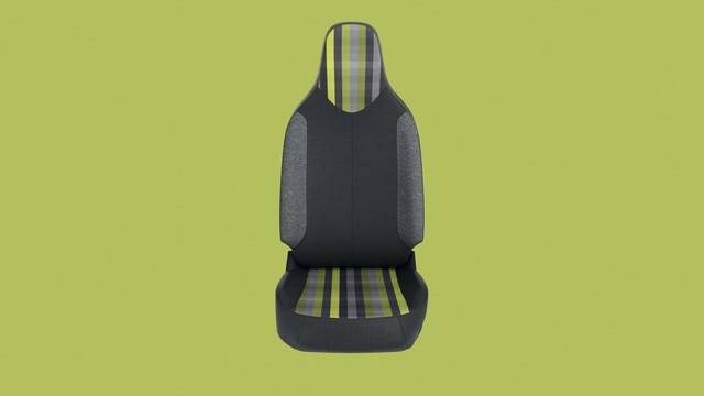 PEUGEOT 108 – Garnissage à carreaux gris et vert