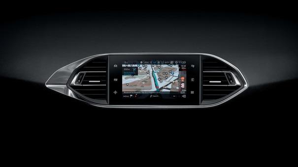 Nouvelle PEUGEOT 308 – Ecran tactile capacitif – Navigation 3D