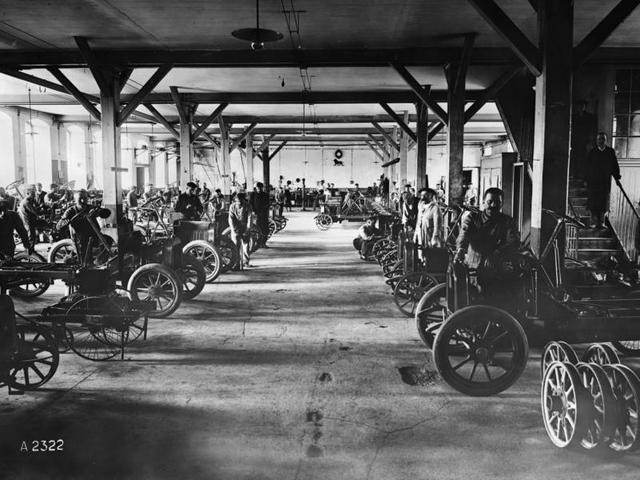 L'aventure familiale – 1910 regroupement des productions cycles et automobiles