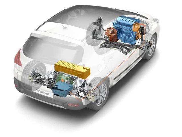 Deux siècles d'innovations – le moteur Full Hybrid 4 monté sur la 3008