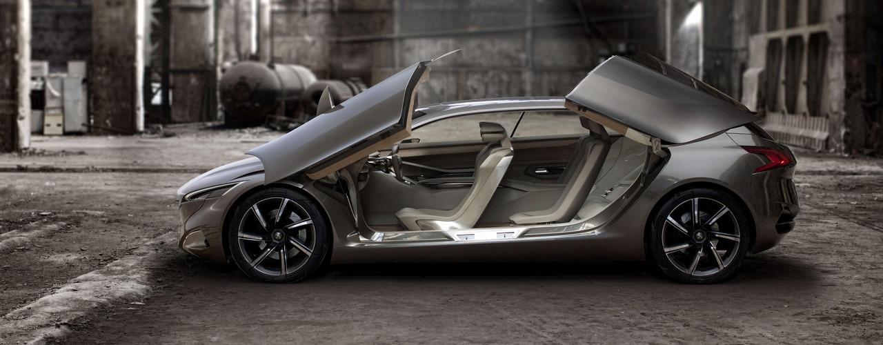 Peugeot HX1 - Vue extérieure ouverte du Concept car