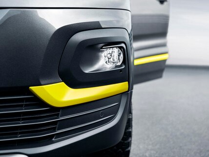 PEUGEOT RIFTER 4x4 Concept - Anti-brouillard avec partie jaune anodisé satin