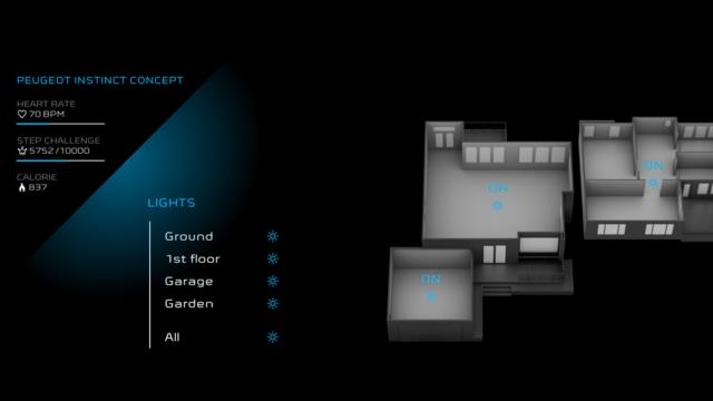 Peugeot Instinct Concept - Le meilleur de l'I.o.T. - Domotique Mode Autonomous Sharp