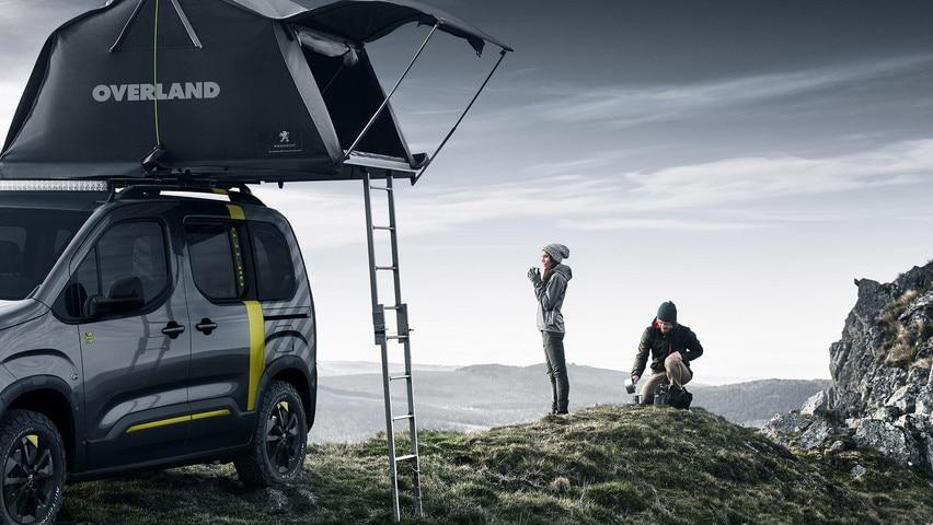 PEUGEOT RIFTER 4x4 Concept – Tente & échelle
