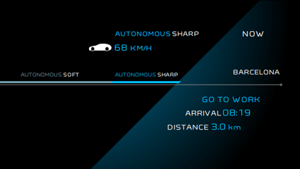 Peugeot Instinct Concept - Le meilleur de l'I.o.T. - Rendu caméra arrière en mode Autonomous Sharp
