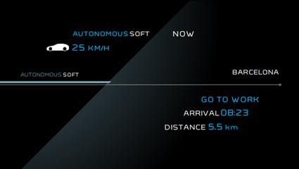 Peugeot Instinct Concept - Le meilleur de l'I.o.T. - Rendu caméra arrière en mode Autonomous Soft