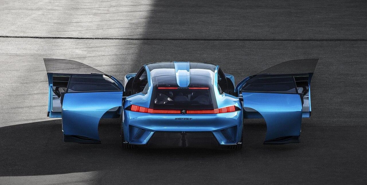 Peugeot Instinct Concept - Le shooting brake by Peugeot - Vue arrière avec portes ouvertes