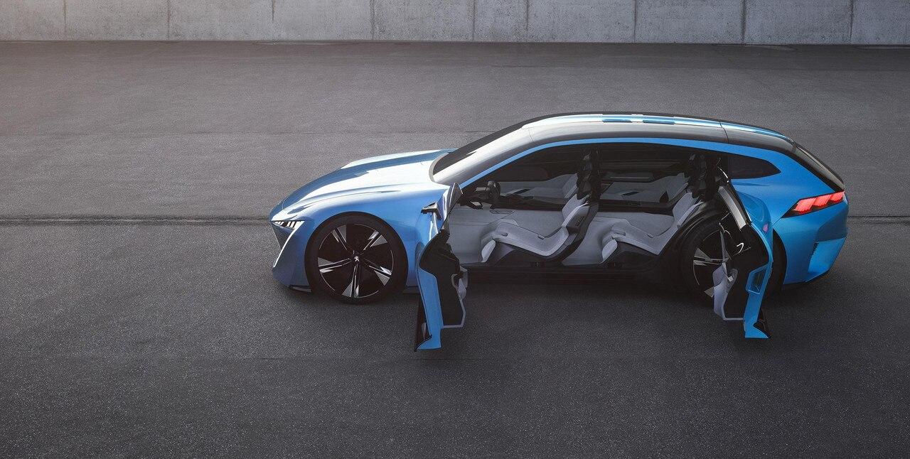 Peugeot Instinct Concept - Le shooting brake by Peugeot - Vue de profil avec portes ouvertes