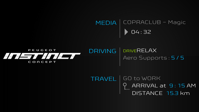 Peugeot Instinct Concept - Le meilleur de l'I.o.T. - Proposition de parcours