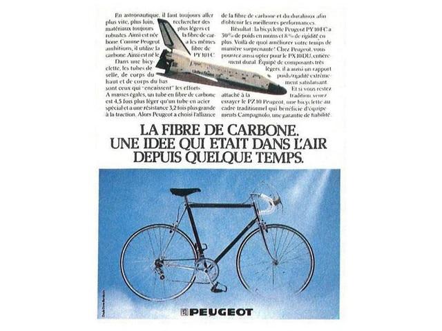 Les deux-roues – article sur le 1er vélo en carbone Peugeot