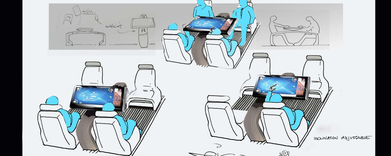 Hyperconnectivité Traveller i-Lab - Illustration de la tablette et son adaptabilité
