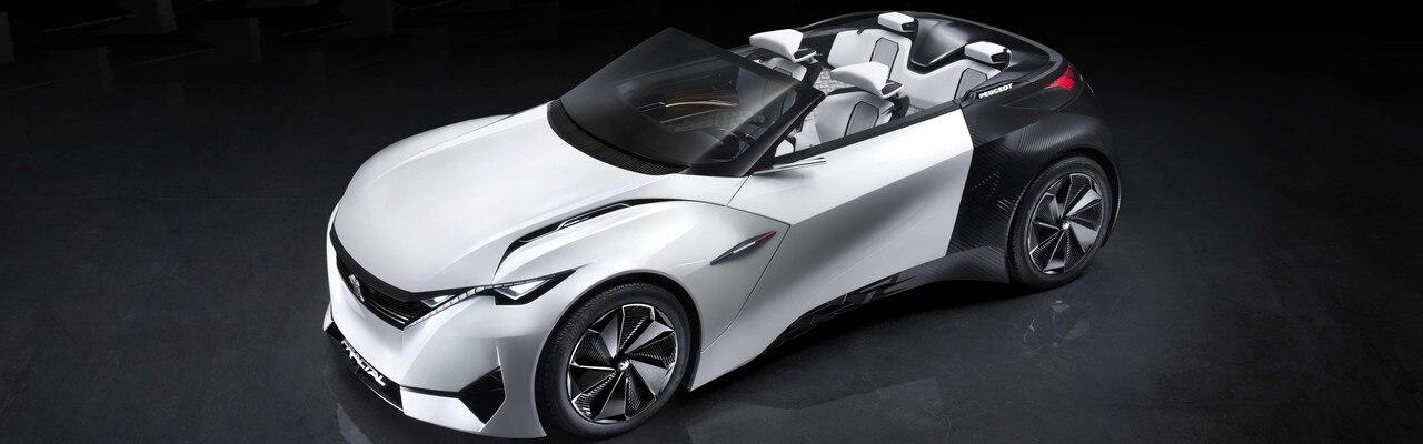 Coupé Electrique Urbain Fractal - Les couleurs du Concept car sont blanc intense et noir mat