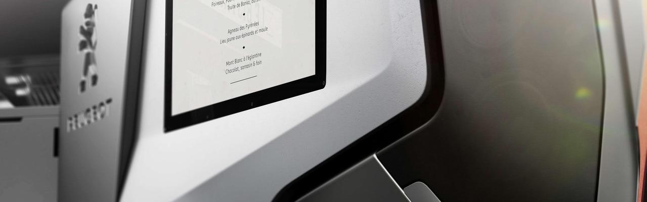 Expérience Culinaire Footruck - Le menu proposé à bord du Concept car