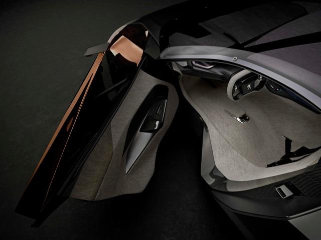 Design Peugeot Onyx - Le Concept car est composé de feutre