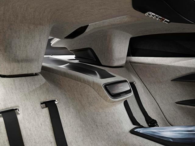 Design Peugeot Onyx - Les sièges arrière de l'Onyx en feutre