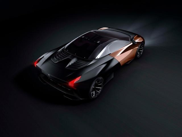 Design Peugeot Onyx - Vue arrière du design extérieur de l'Onyx
