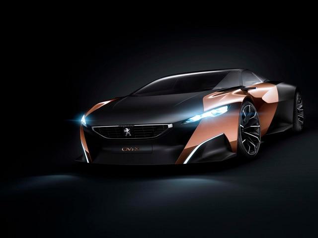 Design Peugeot Onyx - Les deux différents matériaux et couleurs du Concept car