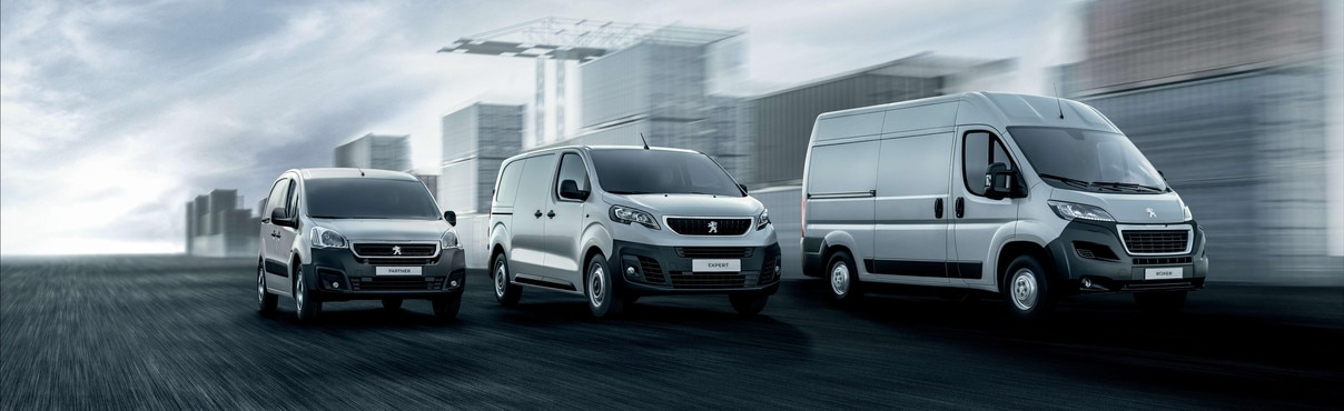 Peugeot gamme véhicules utilitaires