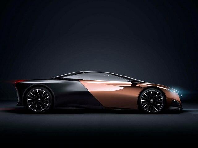Design Peugeot Onyx - Vue latérale carrosserie Onyx