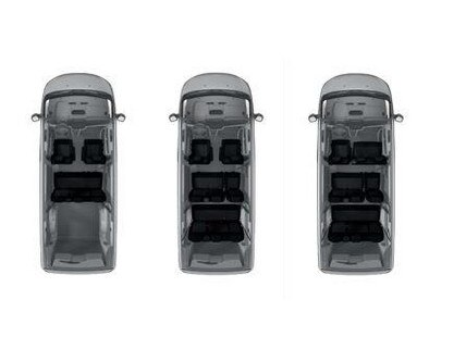 PEUGEOT Expert Combi - configurations des sièges