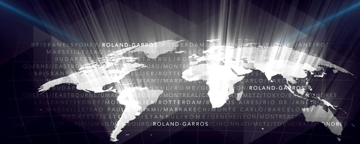Peugeot World Tour - Représentation des différentes villes du monde du tour Roland-Garros