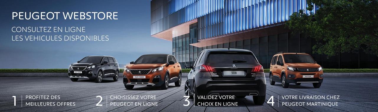 Webstore Peugeot Martinique