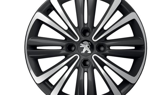 """Nouvelle Peugeot 301 : Jante aluminium 16"""" PERTH diamantée noir brillant"""