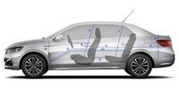 Nouvelle Peugeot 301 : Dimensions intérieures du véhicule