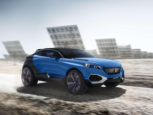 Peugeot Quartz -Design extérieur avant du modèle